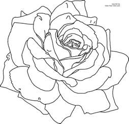roses coloring pictures flower coloring page