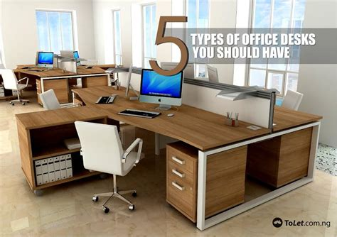 Office Desk Types Office Furniture Types And Features Types Of Office Desks