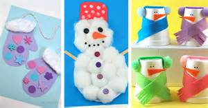 Holiday Handprint Crafts - 25 winter crafts preschool kids and toddlers are going to