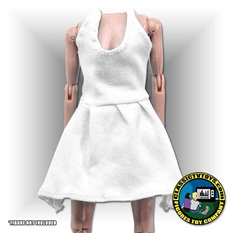 8 inch figure clothes white dress for 8 inch figures