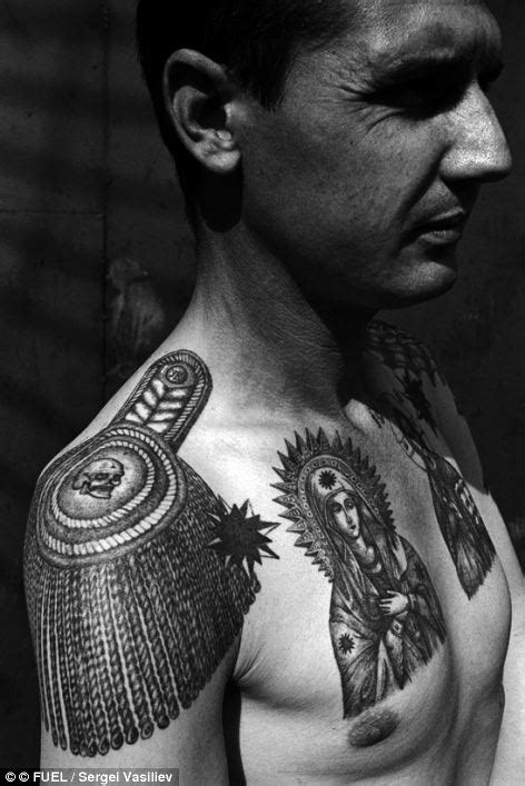 epaulette tattoo symbols of a of crime the fading tattoos on russia s