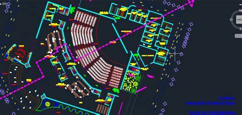 Auditorium for events 2D DWG Design Block for AutoCAD