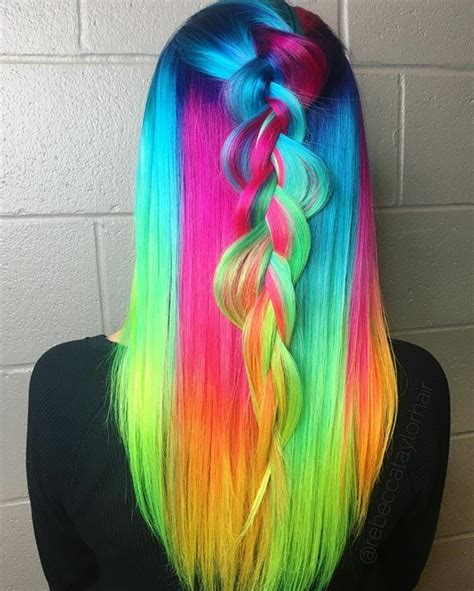 multi color hair dye best 10 multicolored hair ideas on