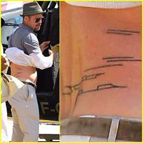 brad pitt new tattoo tattoos brad pitt infinite tattoos