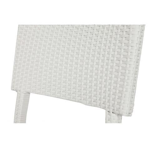 chaise de jardin osier blanc