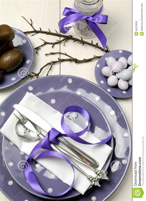 purple theme easter dinner breakfast or brunch table