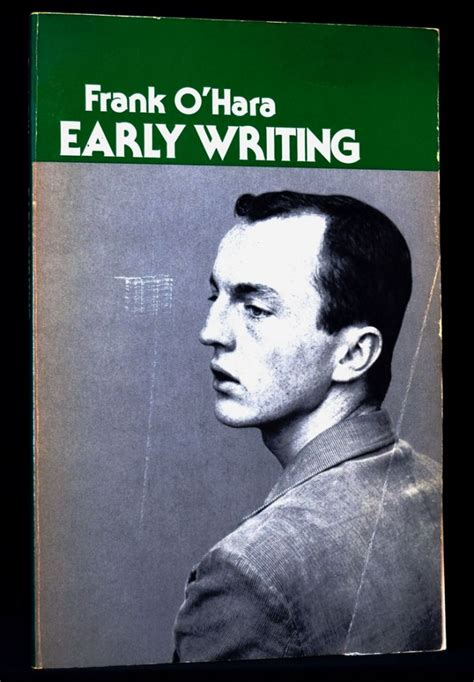 early morning offerings a book of beatnik poetry books early writing frank o hara trade edition