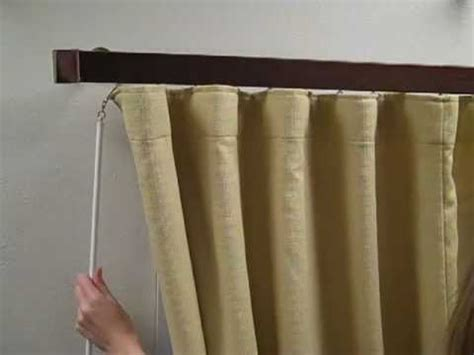 how to make folding curtains wave fold drapery how to hang for the perfect look youtube