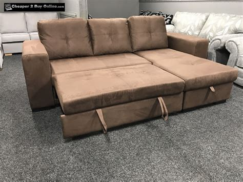 Rio L Shape Corner Sofa With Pull Out Sofa Bed