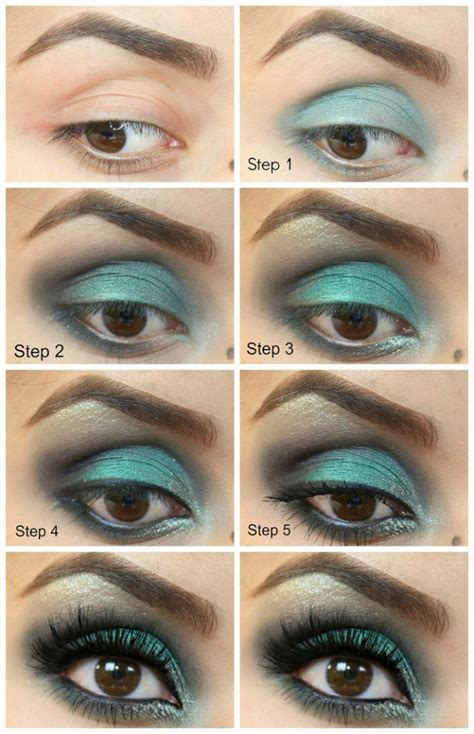 tutorial eyeshadow green 20 beautiful makeup tutorials for brown eyes pretty designs