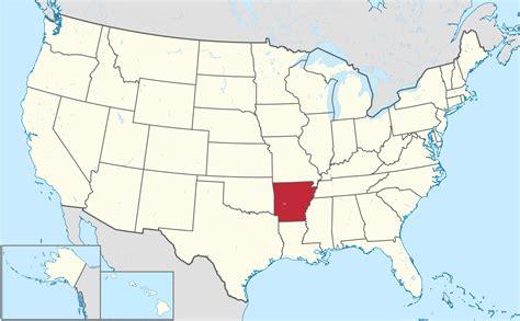 rock arkansas united states map arkansas map us my
