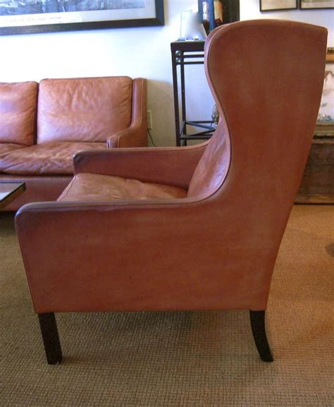 Sofa Wing Chair leather sofa club chair and wing chair by borge mogensen at 1stdibs