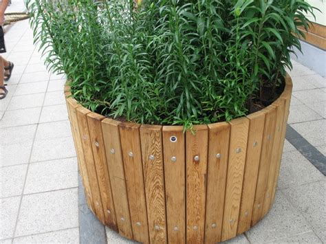 Circular Planters Around Trees by Swithland Circular Fsc Timber Tree Planters
