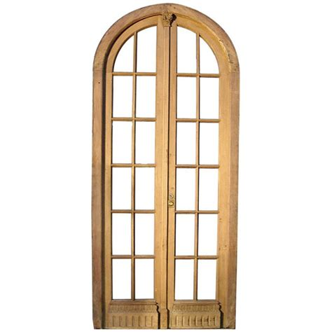 Arched Double Glass French Door At 1stdibs Arch Glass Door