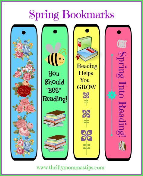 printable geek bookmarks free cheery diy spring bookmarks printable thrifty