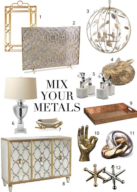 mixing gold and silver home decor best 25 mixed metals ideas on pinterest metallic decor