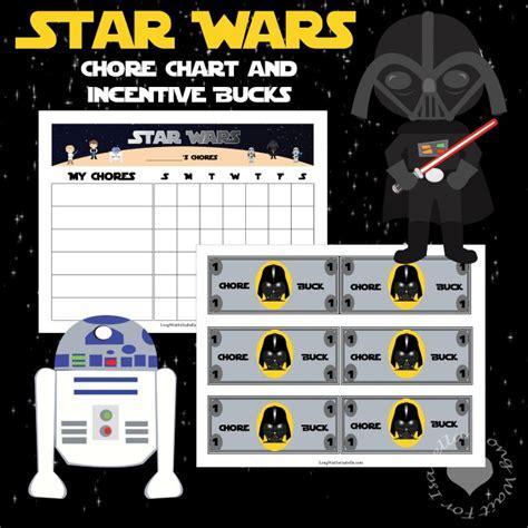 printable star wars reward chart star wars inspired chore chart and chore bucks