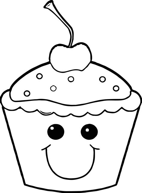 Cupcake Coloring Pages Wecoloringpage How To Make A Coloring Page
