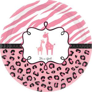 Safari Baby Shower Plates by Pink Safari Baby Shower Dinner Plates 18ct City