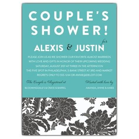 Couples Shower Invitation Wording Paperstyle Couples Wedding Shower Invitations Templates Free