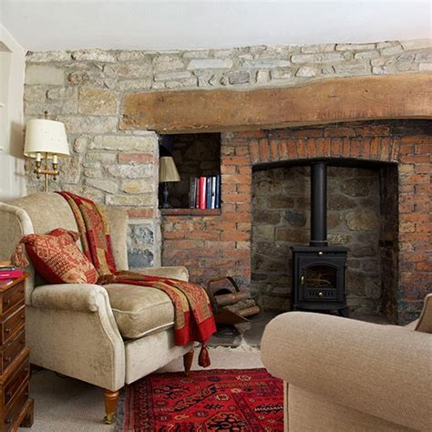 bedroom fireplace house tour 25 beautiful homes snug stone cottage in somerset house tour