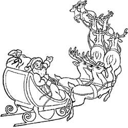santa claus sleigh coloring pages santa in sleigh with reindeer coloring pages cooloring