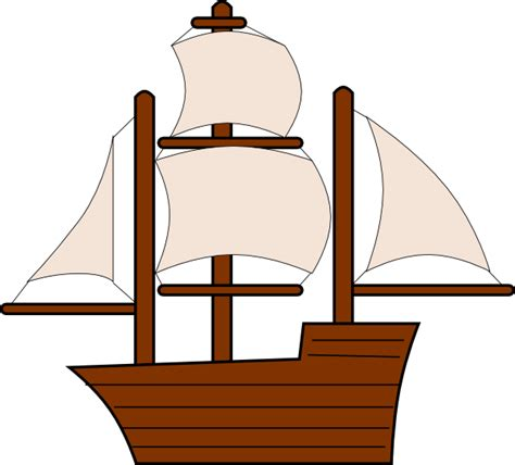 clipart old boat unfurled sailing ship clip art at clker vector clip
