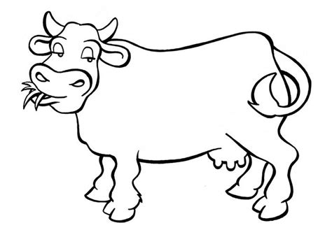 simple cow coloring page animal coloring pages simple printable simple animal