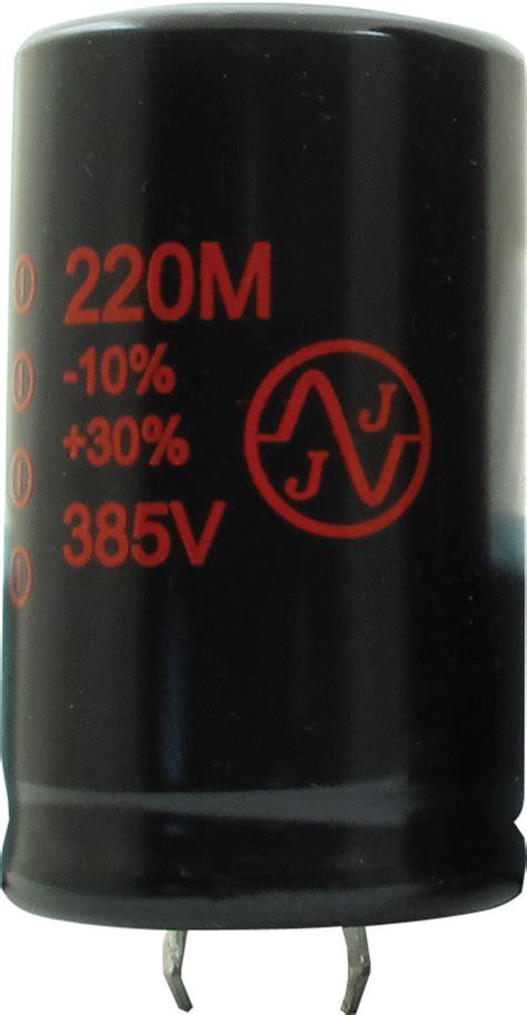 jj electrolytic capacitor capacitor jj electronics 385v 220 181 f electrolytic antique electronic supply
