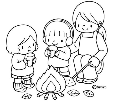 Bonfire Night Coloring Pages Bonfire Colouring Pages