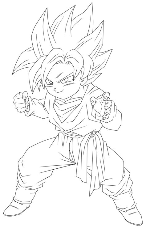 Z Drawing Images by Lineart 055 Goten 001 By Vicdbz On Deviantart