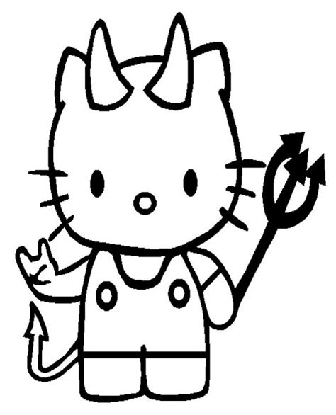 hello kitty devil coloring page top 30 hello kitty coloring pages to print