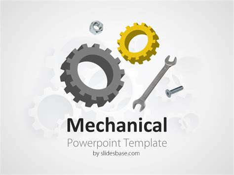 powerpoint gears template mechanical engineering powerpoint template slidesbase