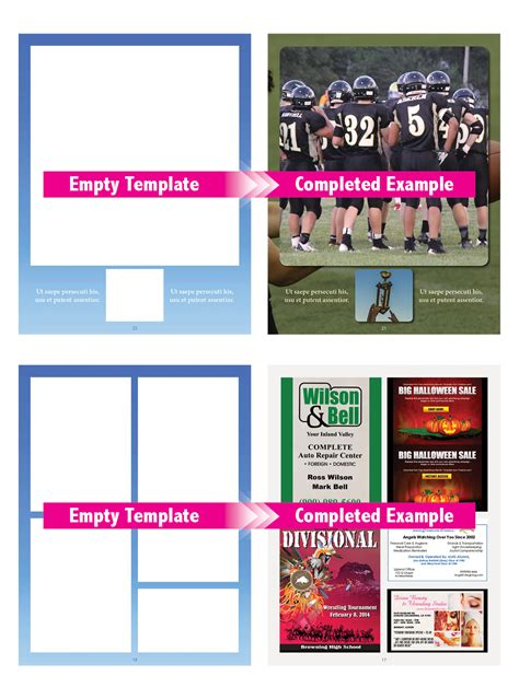 Booklet Templates Printingcenterusa Com Free Football Program Templates