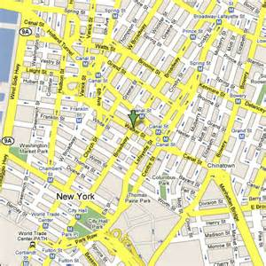 New York Map Google by Street Map New York