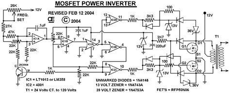 mosfet power inverter 500w using rfp50n06 inverter