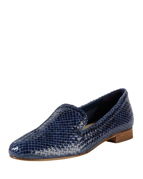 woven loafer cole haan sabrina woven leather loafer in blue lyst