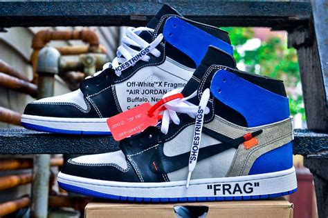 Nike X Offwhite Air 1 Fragment customizer imagines a virgil abloh x fragment design x nike air 1 drink black water