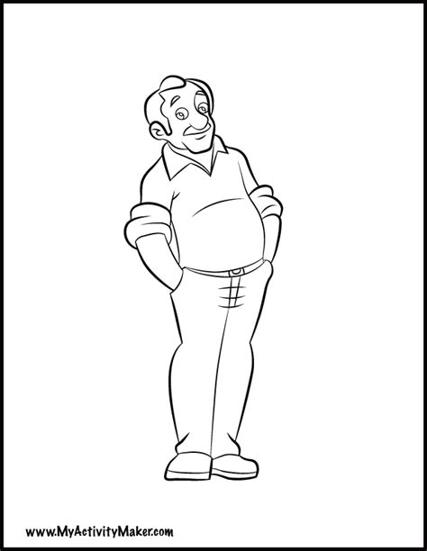 coloring pages people my activity maker