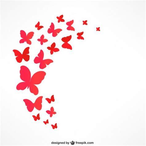 imagenes de mariposas que vuelan mariposas rojas que vuelan vector gratis invitaciones