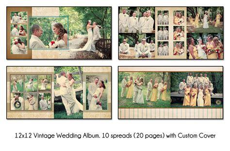 Wedding Album Layout Tutorial by Vintage 12x12 Digital Wedding Album Template Unique 10