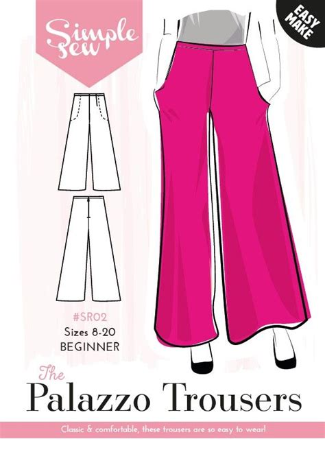 sewing pattern for palazzo pants palazzo pants with pockets capsule wardrobe patterns