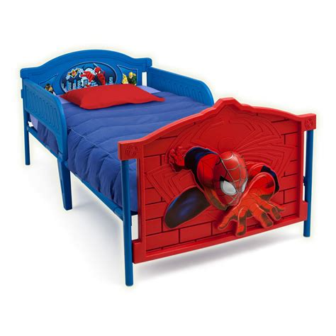 superhero bed spider man 3d twin bed with guardrails kids boys superhero