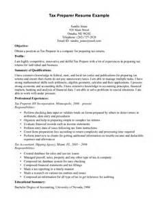 resume templates tax preparer 3 - Tax Preparer Resume Sample