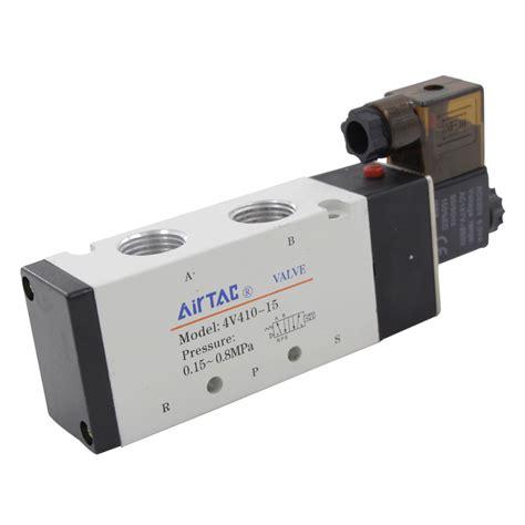 Order Slenoid Dc 12 Vol 1 aliexpress buy free shipping pneumatic solenoid valve air 4v410 15 dc 12v port 1 2 quot bsp