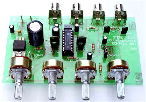 Kit Tone Stereo Well 007s pre tone with tda1524a circuit schematic
