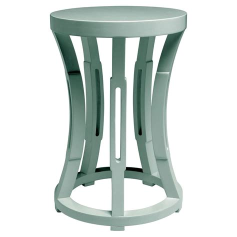 Blue Side Table Lantana Modern Coastal Light Teal Blue Side Table Stool Kathy Kuo Home