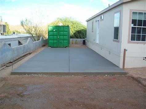 Concrete Patio Slab Thickness by New Concrete Driveway Arizona Concrete Repairman
