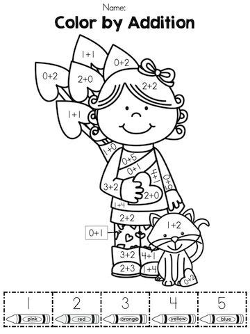 color by sum color by number addition best coloring pages for
