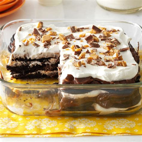 double chocolate toffee icebox cake recipe taste  home
